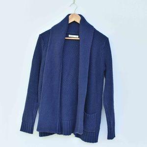 Old Navy Chunky Knit Navy Blue Cardigan Sweater